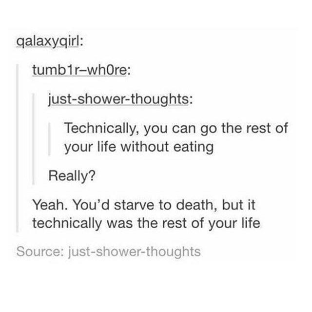 Technically, you can go the rest of your life without eating