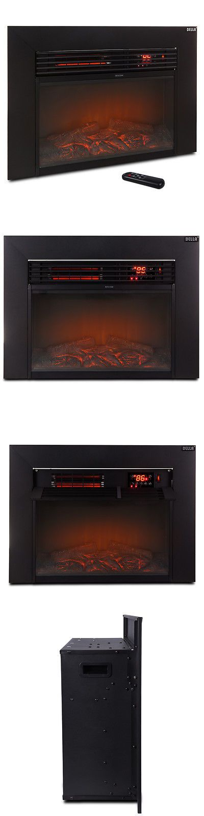 Fireplaces 175756: 1500W Electric Wall Insert Adjustable Fireplace Heater Flame Fire With Remote -> BUY IT NOW ONLY: $76.99 on eBay!