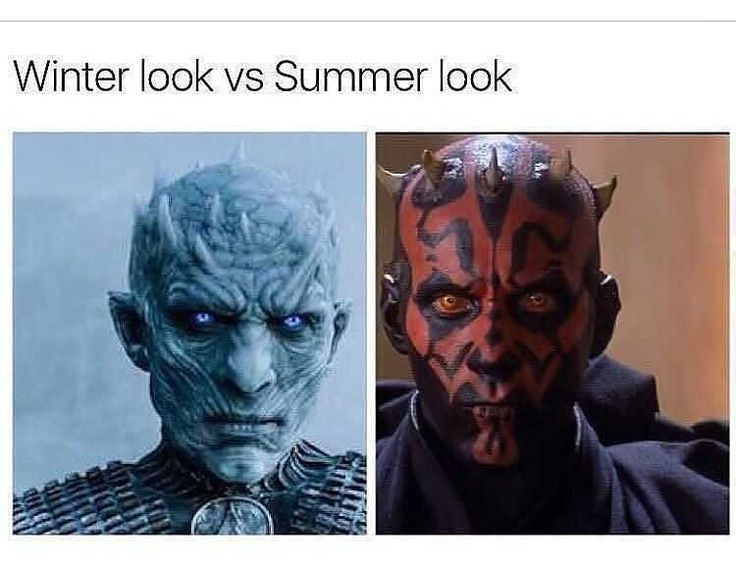 I'm just happy the Summer look didn't involve a two piece!!  😂👙🤓  #hbo #got #gameofthrones  #starwars #darthmaul