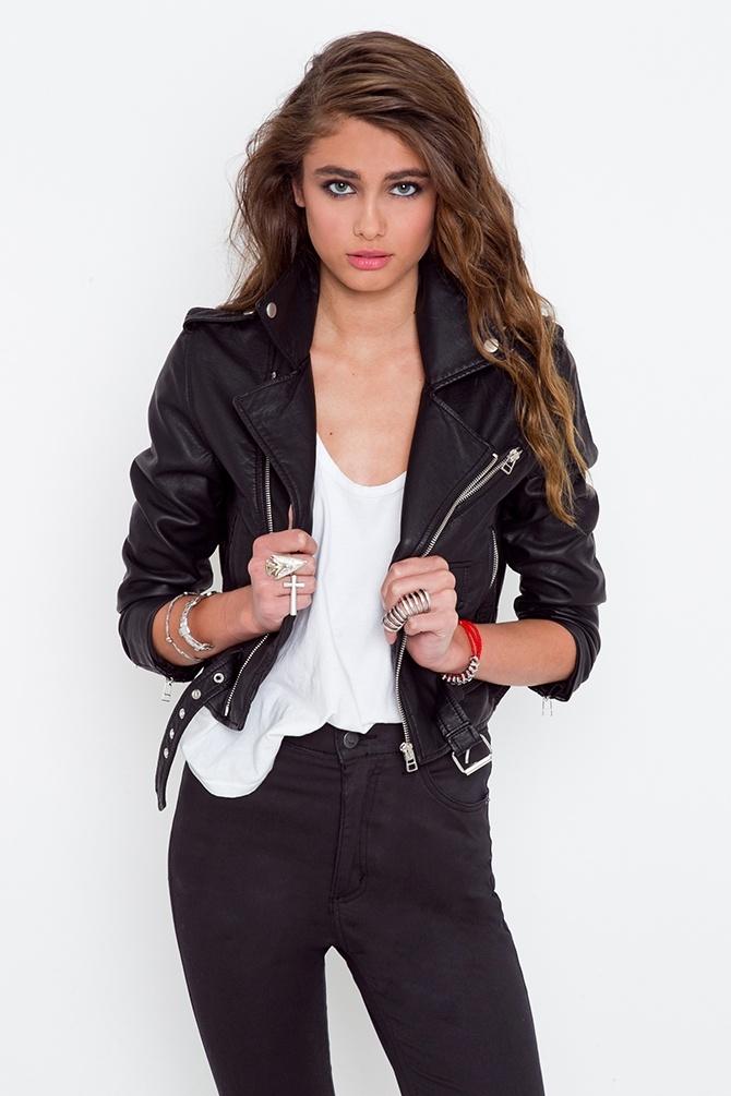 Moto Zip Crop Jacket. Want.