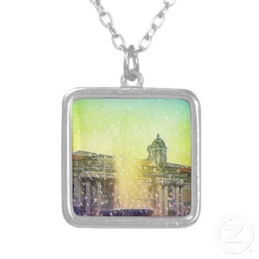 Fountain in London England Necklace