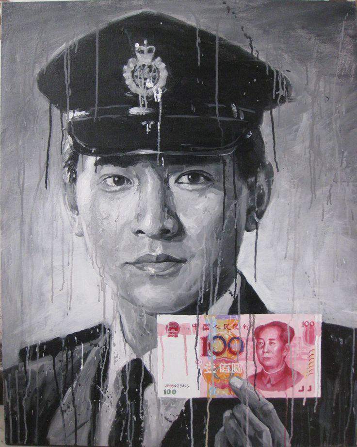 Andy Lau Tak-wah 2013  100 x 80cm Acrylic on canvas