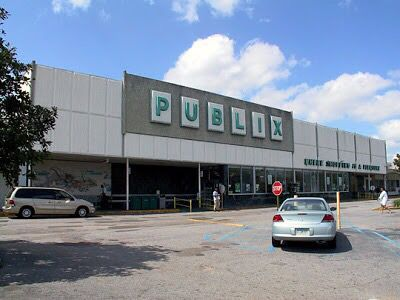 This is what our Publix grocery store used to look like in the early 90s and 80s (from what I remember). The building's exterior look was originally designed sometime in the 70s.