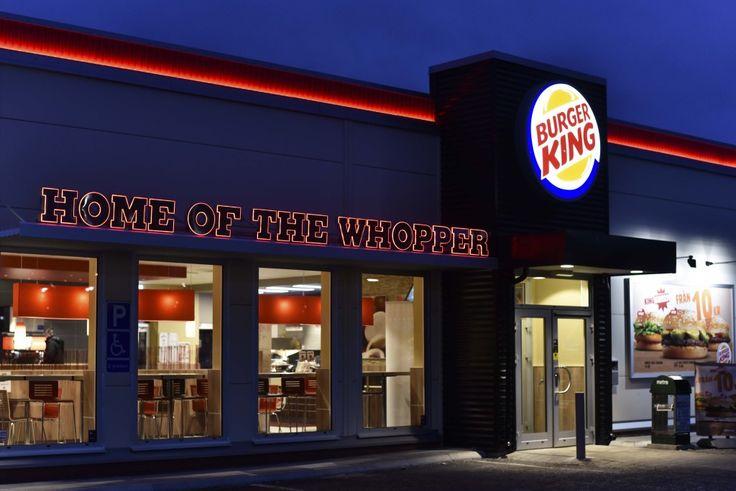 Burger King Sweden Exterior Restaurant Signage Home of the Whopper