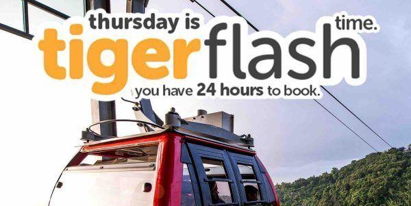 Tigerair Singapore Thursday Tiger Flash Time 24 Hours Promotion 29-30 Jun 2017