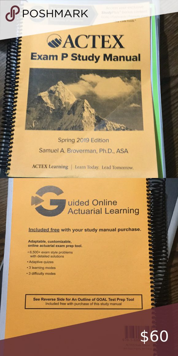 Actex Exam P Study Manual Spring 2019 Edition Exam Study Exam Prep