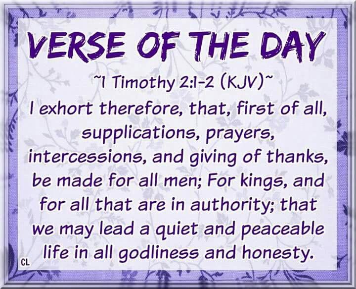 King James Bible 1 Timothy 2:1-2