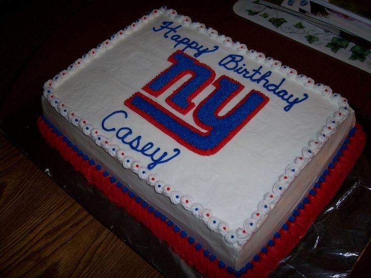 Birthday cake for a giants fan