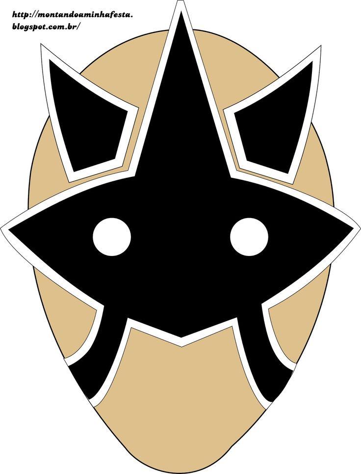 Montando minha festa: Máscaras para impressão Power Rangers Samurai