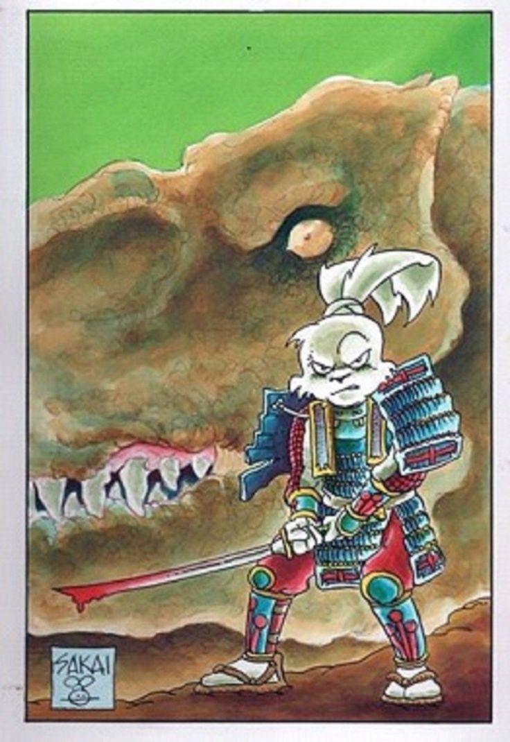 Watercolor book covers - Stan Sakai Auction Original Stan Sakai Art Usagi Watercolor Book Cover Brilliant