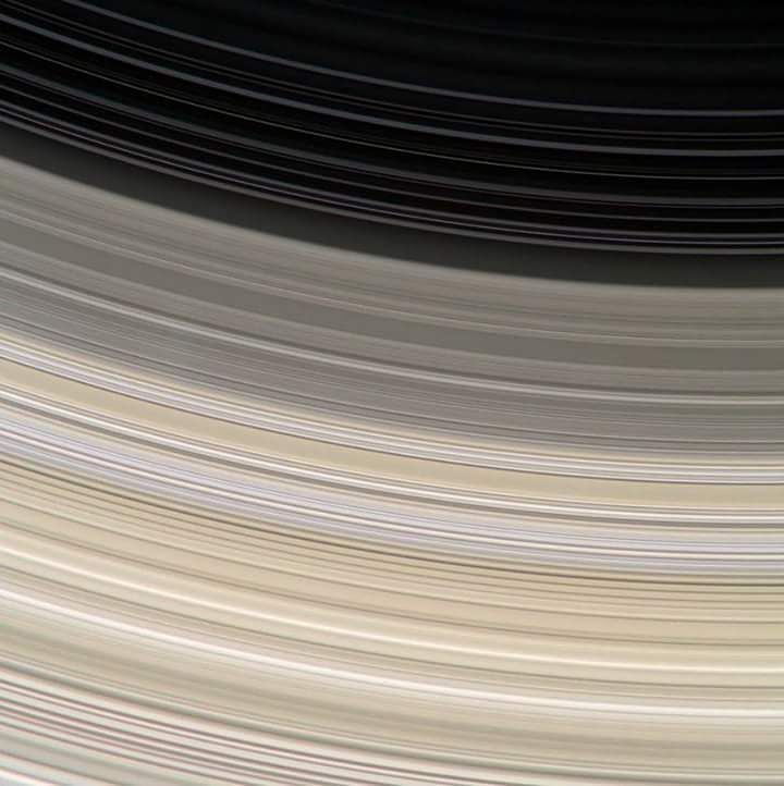 Saturn's Rings... NASA / JPL-Caltech / SSI / Jason Major. Cassini captured this view on January 1 2017.