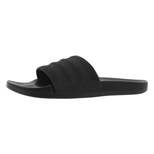 wholesale dealer a5afe 6b0e8 adidas Men s Adilette CF Mono Slide Sandals Black Black Black (9 M US