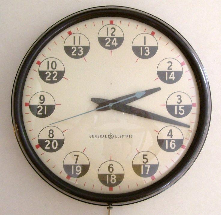 Vintage GENERAL ELECTRIC Industrial Wall Clock