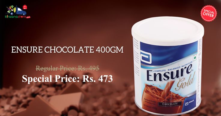 Shop Online for Ensure Chocolate 400 gm @ Discounted Price Only at Kiraanastore.