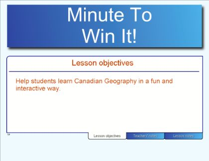Minute to Win It! - Canadian Geography (for Smartboard). How did they do this?