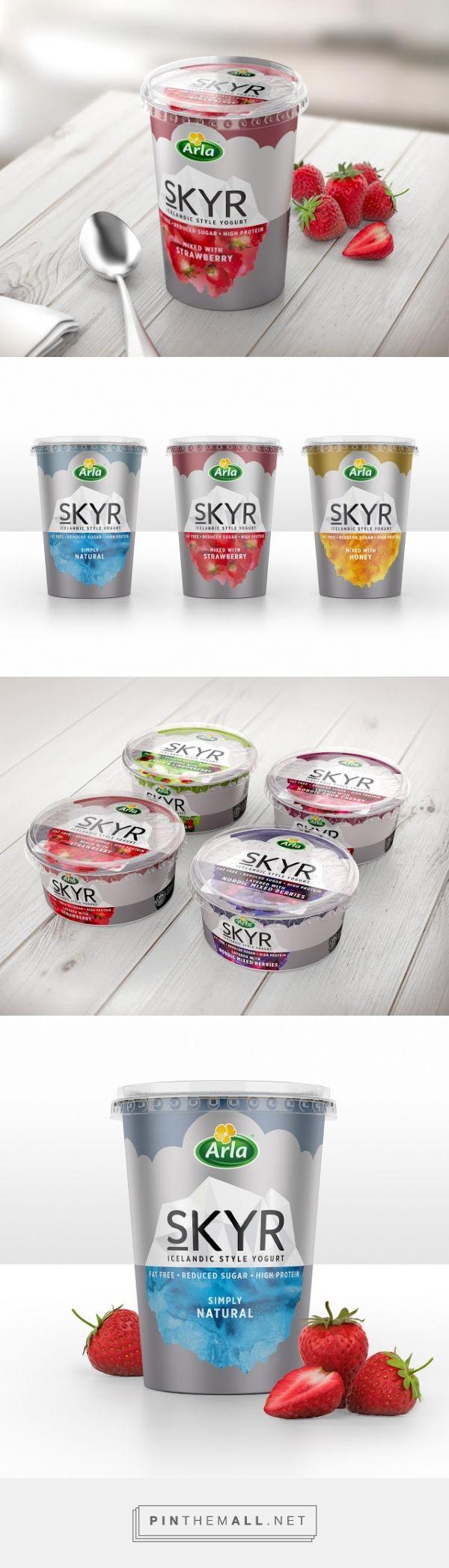Arla Skyr #Yogurt #packaging designed by Elmwood Brand Design - http://www.packagingoftheworld.com/2015/04/arla-skyr-yogurt.html
