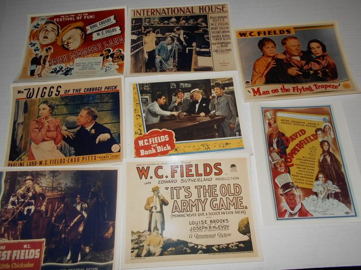 W. C. Fields 8 Ad Art Photos Bank Dick International House The Old Army Game