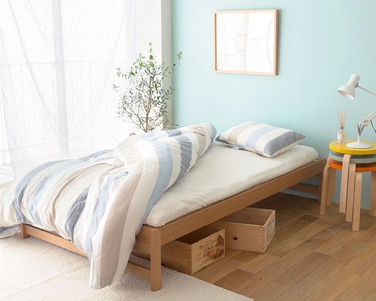 布団で使えるすのこベッド SOLID ヘッドレスタイプ 家具・インテリア通販 Re:CENO【リセノ】