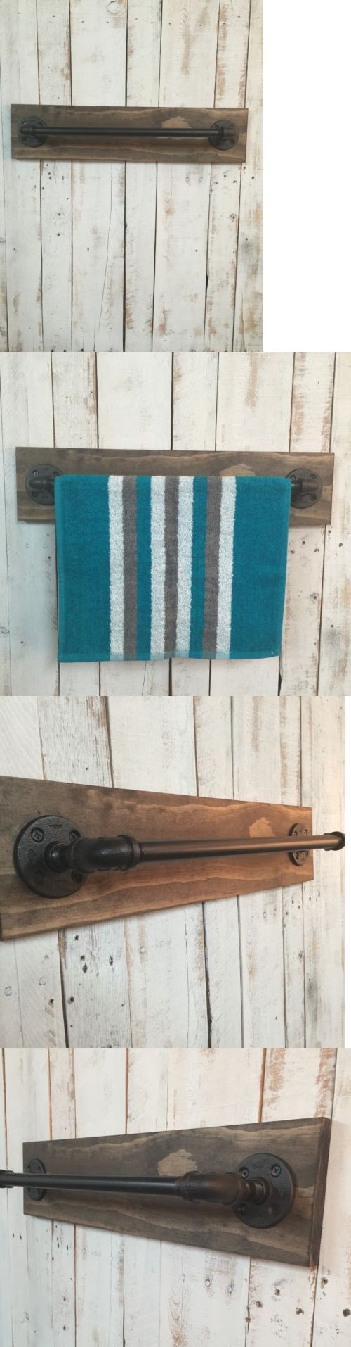 Wall Hooks and Hangers 103426: Rustic Towel Bar-Industrial Towel Bar-Wooden Towel Bar -> BUY IT NOW ONLY: $50 on eBay!