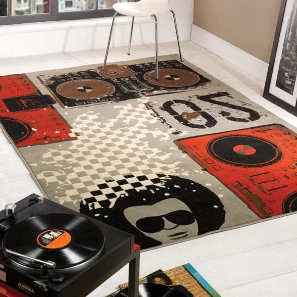 Retro Funky Beat Box Rug