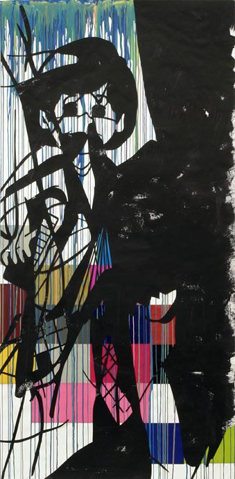 Arturo Herrera # 57 BF2 2006 Cut-out collage and mixed media on paper 250 x 123 cm