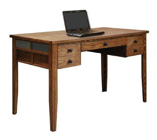 Oak Creek Desk by Legends Furniture. $651.04. Width 53.62. Height 30. Finish Golden Oak. Assembly Required No. Constructed out of oak solids and veneers - Slate(natural stone color and texture may vary) accent tiles - Pull out keyboard tray - Proudly made in the USA. Oak Creek DeskLength 27.31