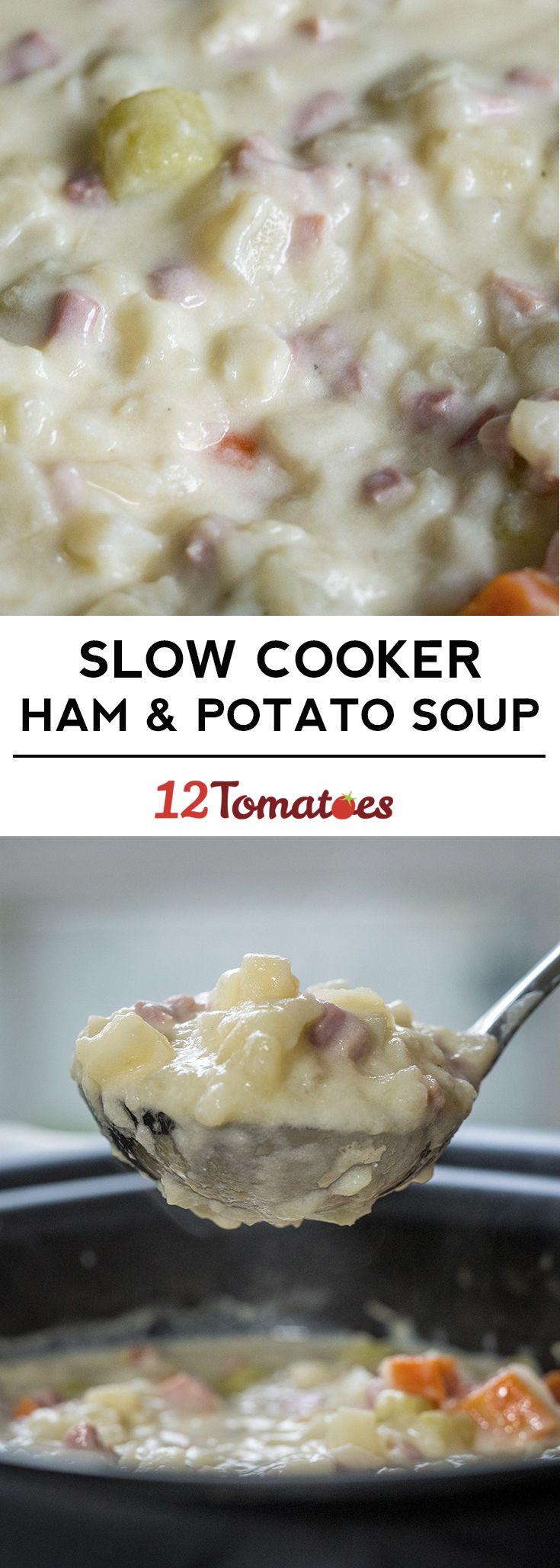 Slow Cooker Ham & Potato Soup