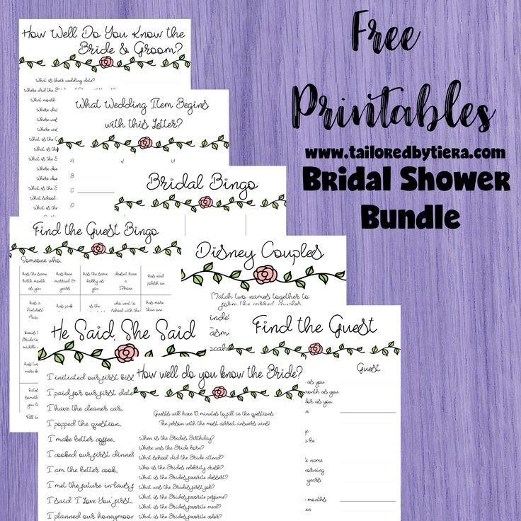 charlotte bridal bundle a simple floral themed bridal shower games
