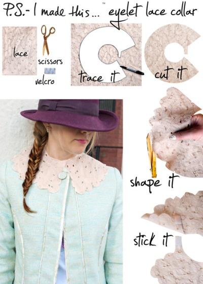 .Eyelet Lace Collar DIY PSIMADETHIS DIYCOLLAR