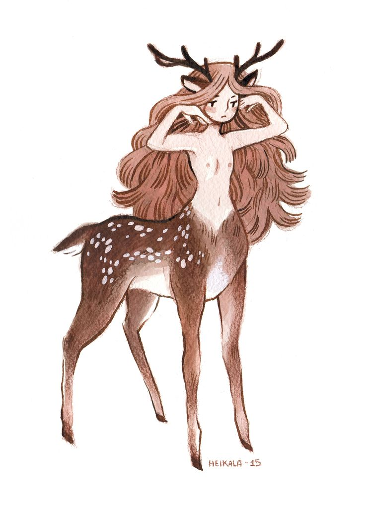 Inktober day 10, a Centaur Girl by Heikala