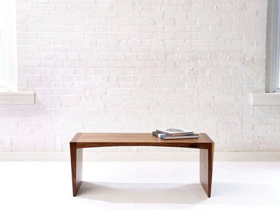 Handmade Solid Wood Walnut Coffee Table or Bench  door WakeTheTree, $1050.00