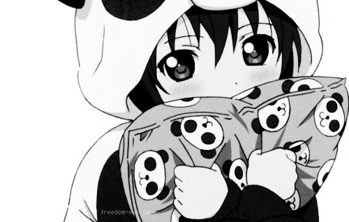 Anime Girl Obsessed With Panda.....uhm