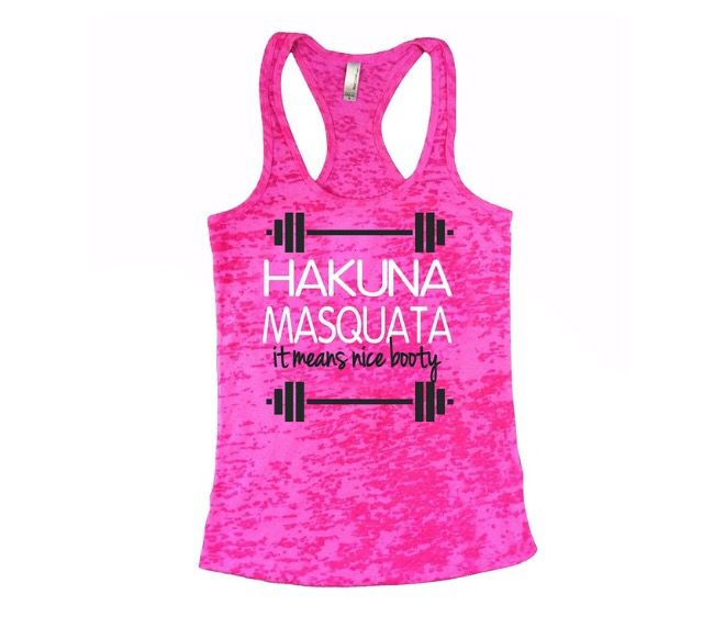 Workout motivation tank
