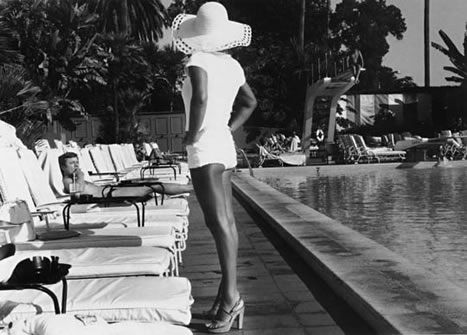 """Woman by the Pool, Beverly Hills Hotel,"" 1975, by Anthony Friedkin."