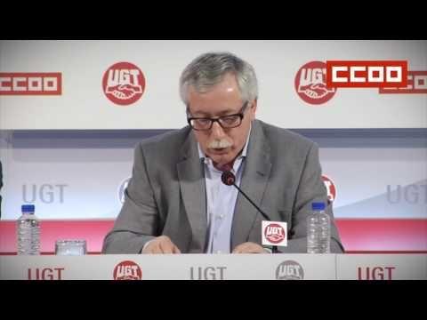 (9) CCOO y UGT presentan el manifiesto y los actos del 1 de mayo - YouTube