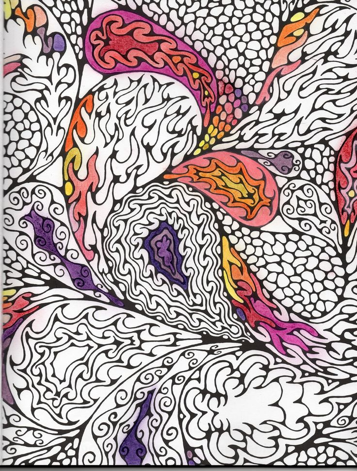 Page From Paisley Adventure A Kaleidoscopia Coloring Book By Kendall Bohn With Derwent Studio Colored Pencils Wax Based Complete Set Of 72