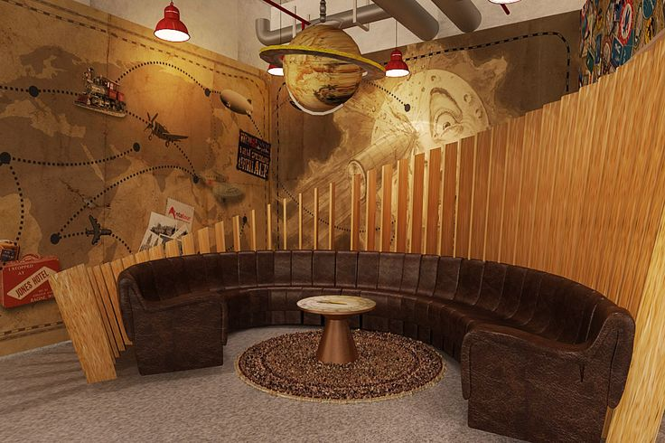vip area with vintage touch ex: globe, persian carpet etc