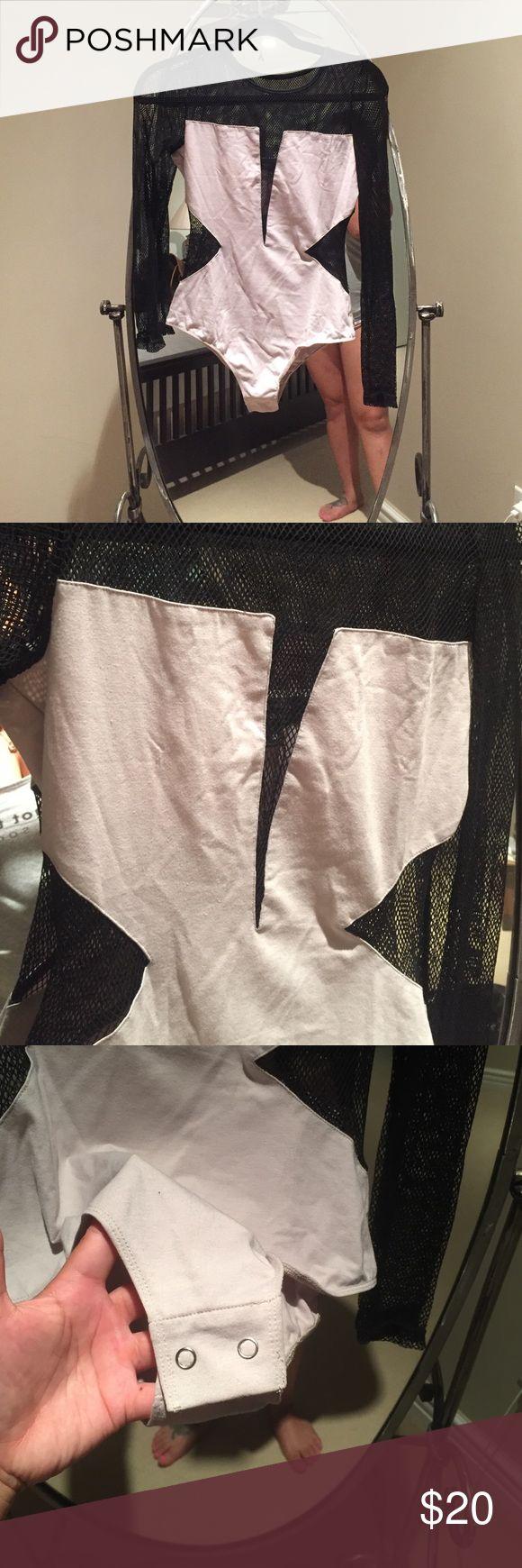 Body suit Mesh neutral body suit Tops