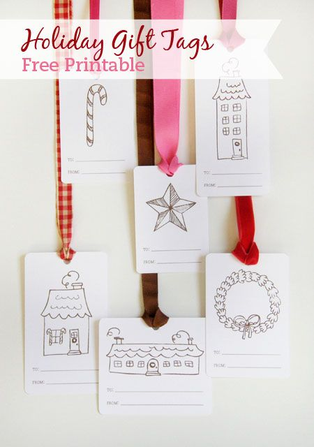 Free printable holiday gift tags. Use it in the classroom to attach to gifts your students make for their family or use it at home with your kids on a snowy afternoon.