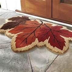 Leafy Door Mat Fall Dooroutdoor