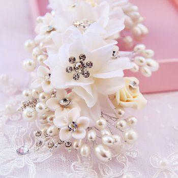 Букет свадебный Hairband повязка на голову цветок гирлянды волос когти свадебные головные уборы аксессуары для волос свадебные украшения для волос