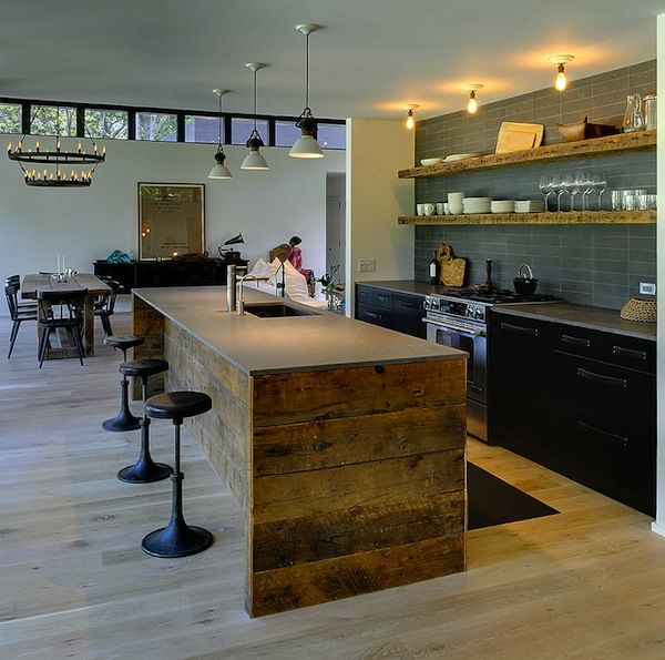 Industrial rustic kitchen modern rustic interior design - Industrial modern kitchen designs ...