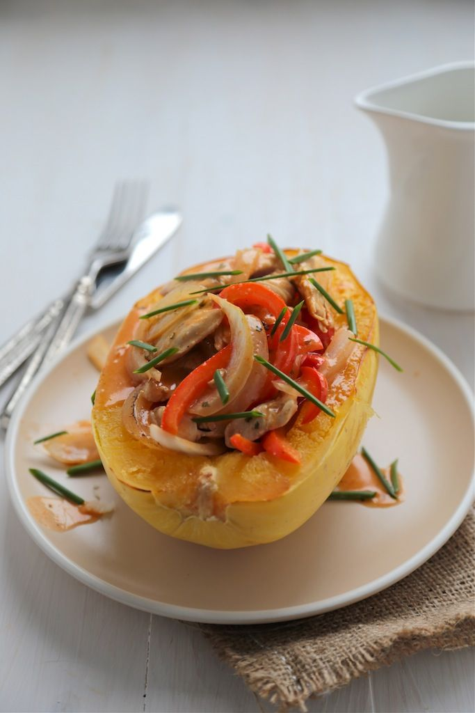 Light and Healthy Red Curry Spaghetti Squash Bowls