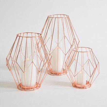 These lanterns provide the perfect touch of copper.