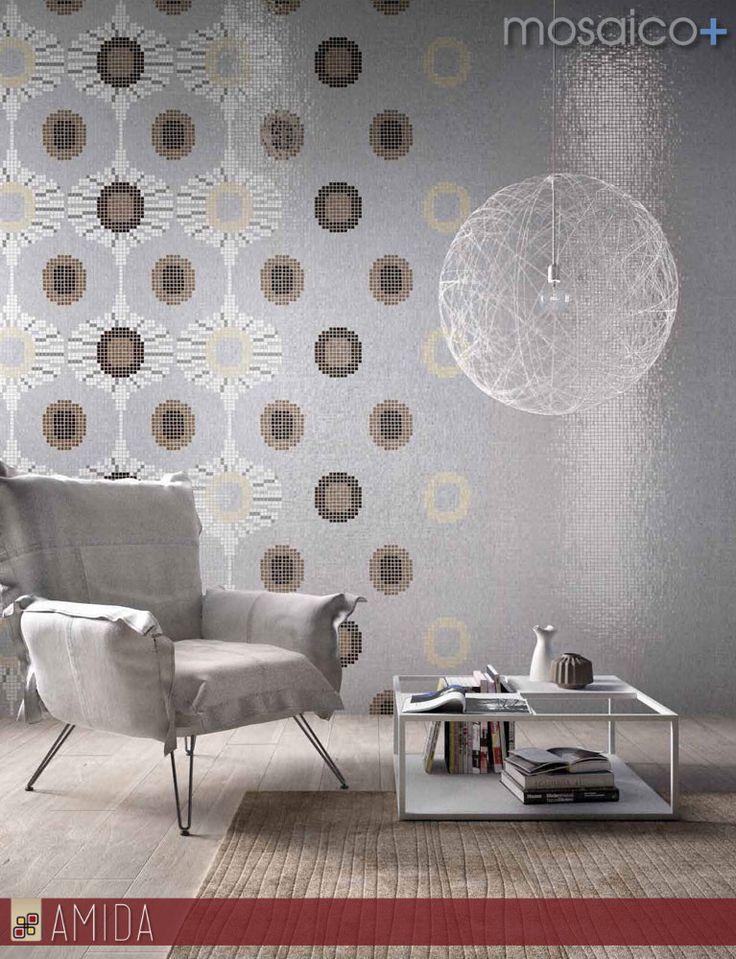 Scopri le nuove frontiere del #decoro con i #mosaici #artistici della mosaico+ : crea il tuo ambiente personalizzato con le infinite combinazioni di colori e moduli! Solo da Amida
