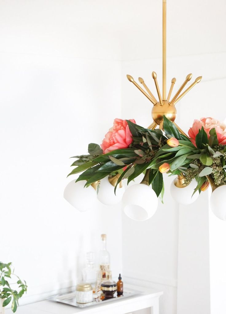Best Mothers Day Images On Pinterest - Beautiful diy white flowers chandelier