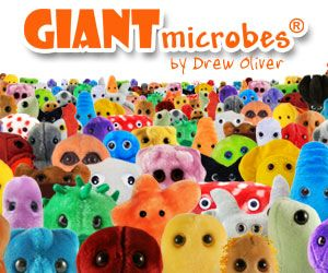 GIANTmicrobes - how much does a science teacher love plush microbes?!