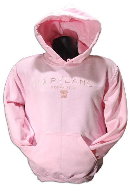 SWUM14P HOODED SWEATSHIRT - University of MD Embroidered Plain Copper Pink