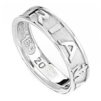 Ring AMEN Ave Maria rodinierten Silber 925 | Online Verfauf auf HOLYART