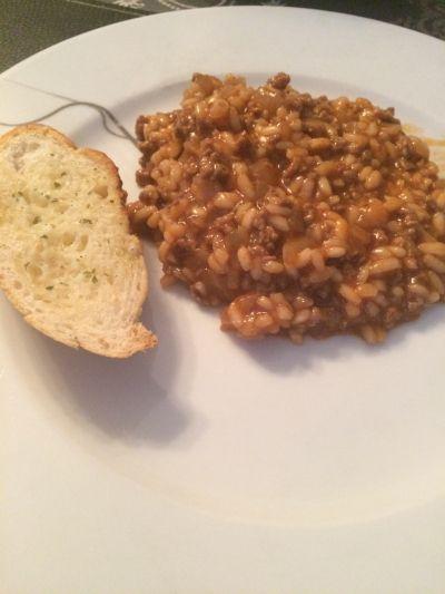 Risotto med kjøttdeig (bakemamma)
